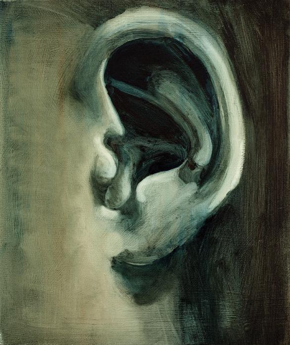 ear and shape, paintings, bartosz beda paintings 2012