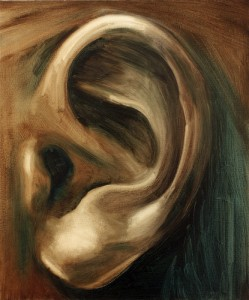 ear and shape, paintings, bartosz beda paintings 2012