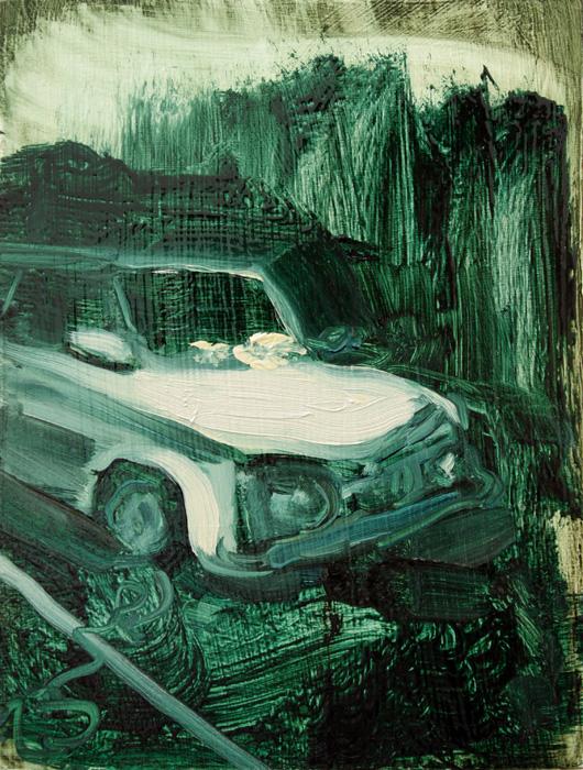 Interior with Car, bartosz beda paintings 2012