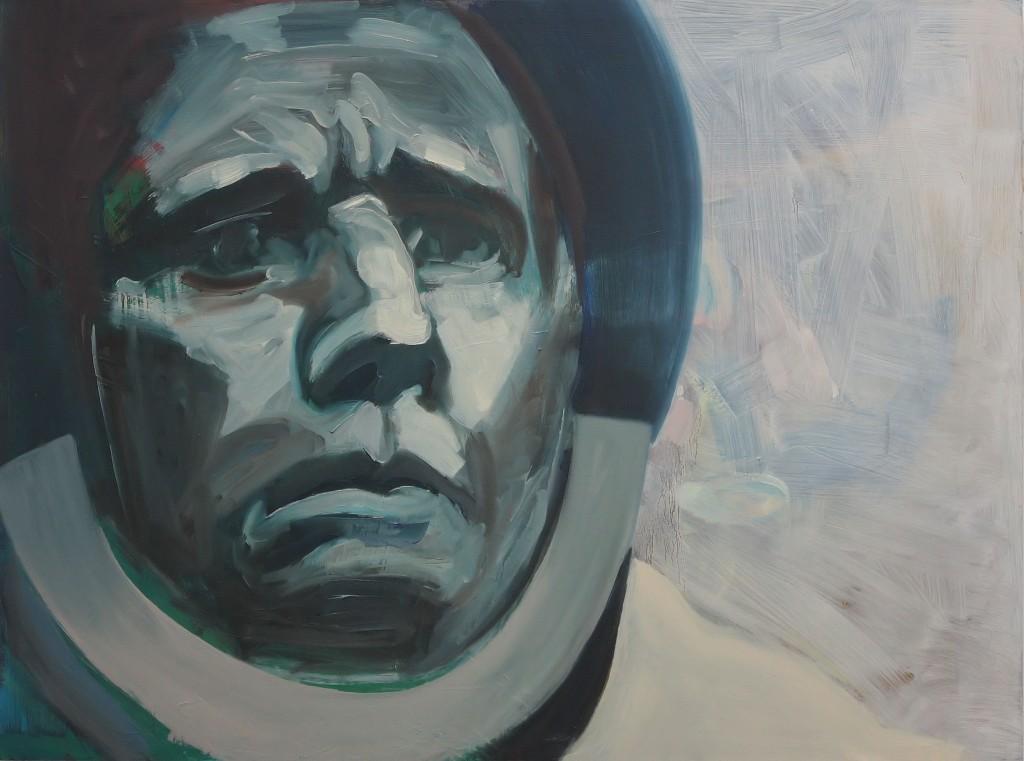 Art by Bartosz Beda, Juri Gagarin, paintings 2011