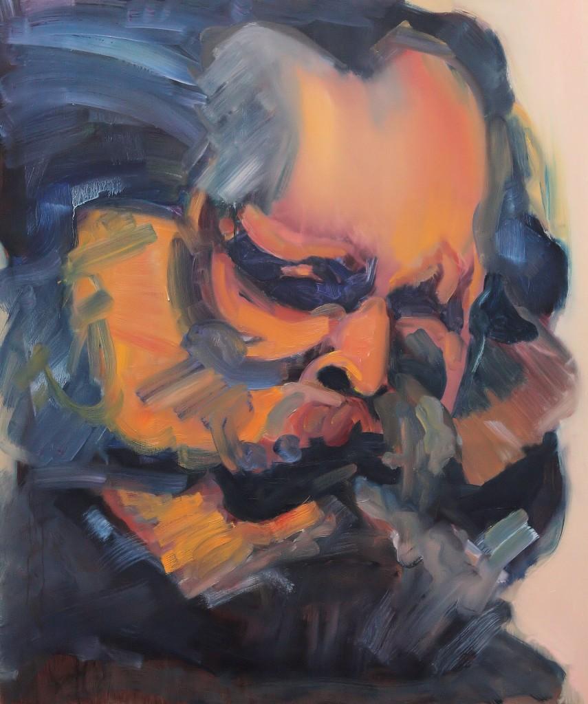 Art by Bartosz Beda, Karl Marks, paintings 2011