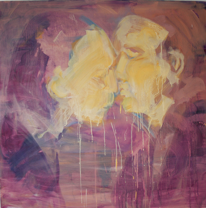 Art by Bartosz Beda, Kiss of Politics, paintings
