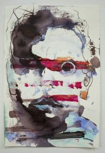 anxiety on paper, paintings, bartosz beda paintings 2013