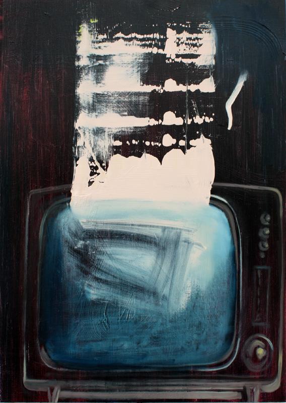 Portrait of TV II, bartosz beda paintings 2012