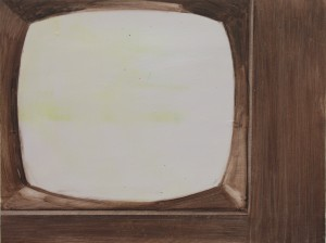 Portrait of TV, bartosz beda paintings 2012