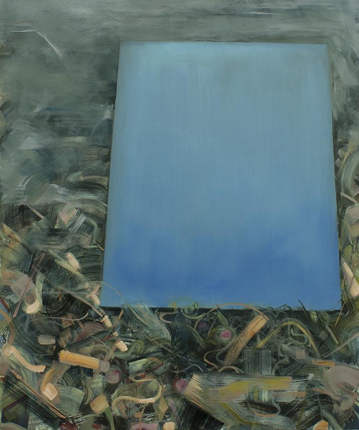 Reversed Landscape-reflection, painting, bartosz beda paintings 2013