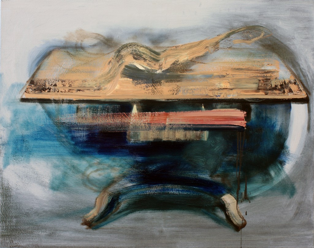 Art by Bartosz Beda, Study for Table Creation, Interiors, paintings