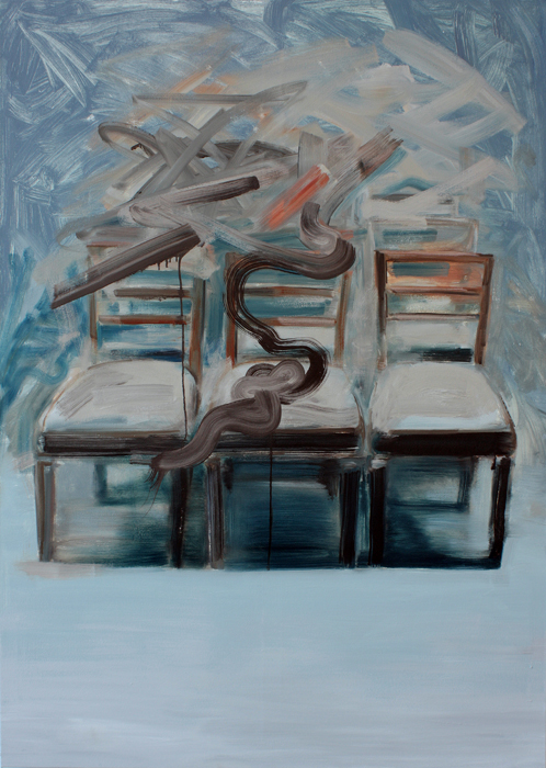 Twisted Chairs, bartosz beda paintings 2012
