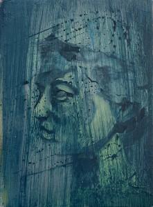 stream face, bartosz beda paintings 2015
