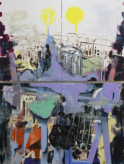 atom, paintings 2017, bartosz beda, beda art, beda paintings, bartoszbeda artist