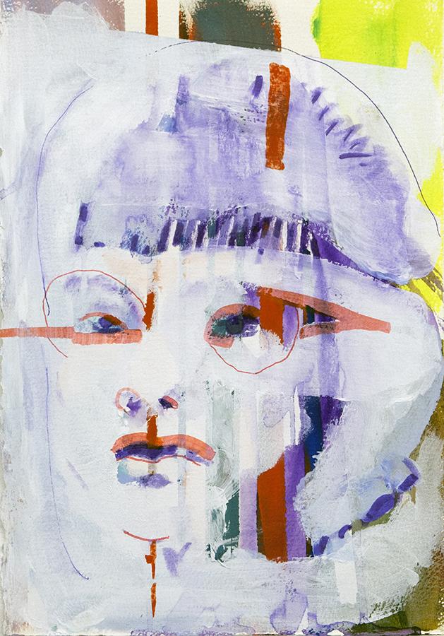 Red Accents II, bartosz beda, paintings 2016