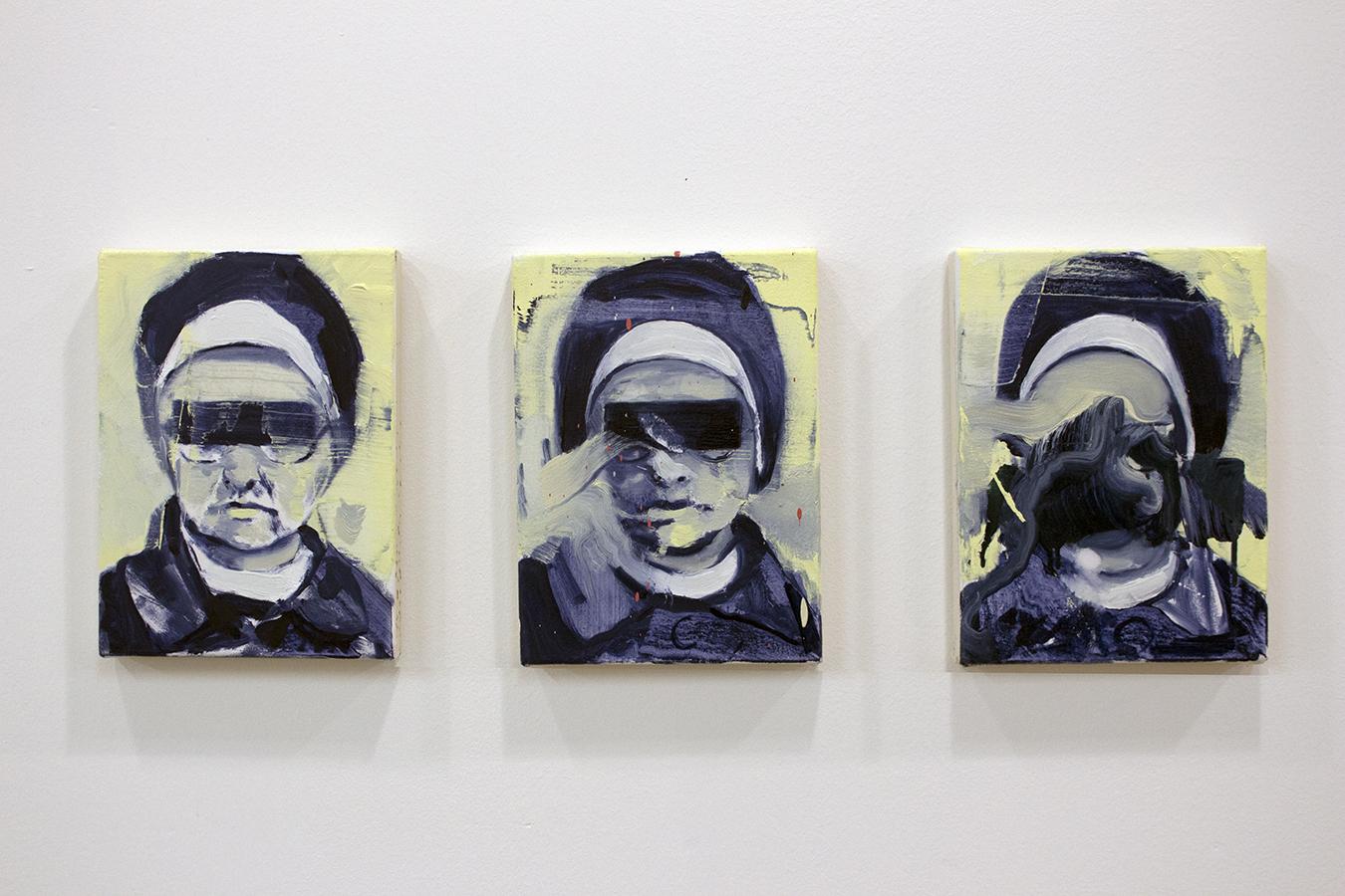 Nun, bartosz beda, paintings 2017, artwork