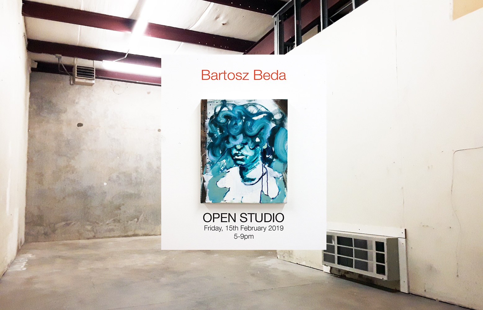 open studio in dallas, bartosz beda artist