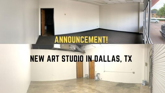 My New Art Studio in Dallas, TX