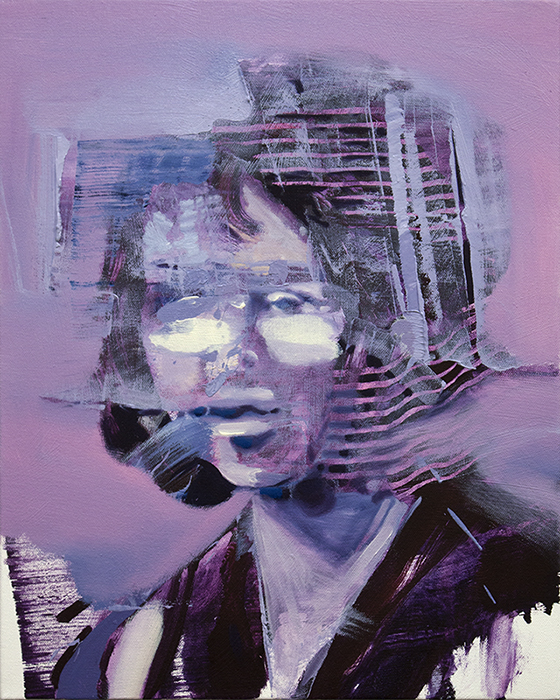 Painting of the Day, Repercussion II, portrait painting, William Wood University, Bartosz Beda