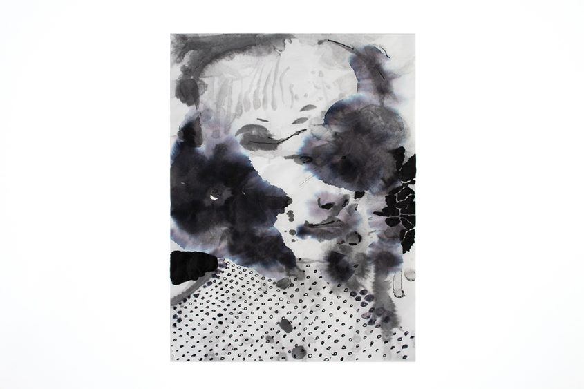 painting of the day, splashes, sumi ink, bartosz beda, portrait painting 2