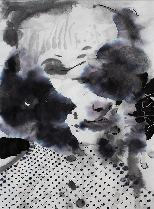 painting of the day, splashes, sumi ink, bartosz beda, portrait painting 4